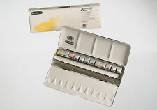 SCHMINCKE - AKADEMIE ARTISTS QUALITY WATERCOLOUR PAINTS - 12 HALF PAN LARGE SET