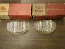 NOS OEM Ford 1953 1954 Truck Pickup Park Light Lamp Lenses Pair F100