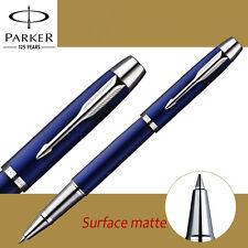 Metal PARKER IM rollerball pen Business Blue Matte roller ball Pen Luxury gift 7