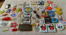 Huge lot of key chains and pens vintage advertisements trinkets junk drawer lot