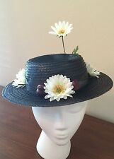 Mary Poppins Chimney Sweep Hat With Daisies And Cherries. Homemade  (Adult)