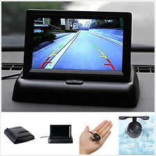 """4.3"""" Foldable LCD Display Monitor+170° Wide Angle Car Reverse Parking HD Camera"""