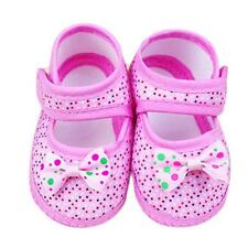 Bowknot Girl  Soft Sole Crib Toddler Shoes Canvas Sneaker For Newborn &