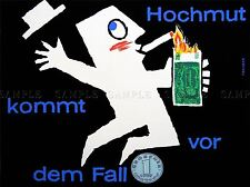 ADVERT HOCHMUT PRIDE FALL TRAIMER VIENNA BANK ART POSTER PRINT LV202