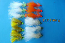 12 X ASSORTED UV FRITZ HOTHEAD LURE FISHING FLIES SIZE 10 BY AQUASTRONG (100)