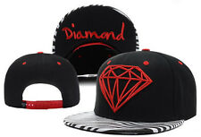 New Diamond SUPPLY CO Snapback style Hip hop Adjustable Baseball Hat Cap Black