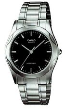 Casio MTP1275D-1A Mens Stainless Steel Analog Dress Watch Black Dial NEW