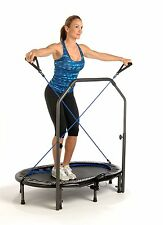 Jogger Trampoline Rebounder Oval Home Cardio Stamina Workout Exercise Handlebar