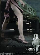 Publicité advertising 2001 La Montre Rado switzerland