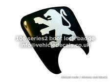 PEUGEOT 106 S2 BOOT LOCK BADGE EMBLEM SURROUND DOMED RESIN VINYL DECAL 8726E0