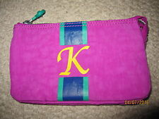 KIPLING Pink k Initial Creativity Pouch 3 Slot Wallet Clutch cosmetic pencil bag