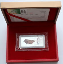 2010 Shanghai China World Expo Memorial 99.9% Silver Bar Presented Boxed
