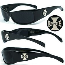 Choppers Mens Motorcycle Biker Sunglasses - Black C11 B