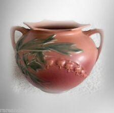 """Roseville vase in red Bleeding Heart design - 6"""" size - FREE SHIPPING"""
