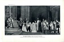 Bühnenbild Die schwarzen Masken Drama von Leonid Andrejew in St. Petersburg 1909