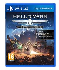 * PLAYSTATION 4 NEW SEALED Game * HELLDIVERS Super Earth Ultimate Edition * Sca