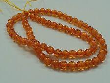 10Pcs Resin Round Beads Imitation Amber Dark Gold, 6mm, Hole: 1mm