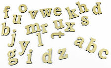 Set of 26 Small Lowercase Wooden Alphabet Letters/ Plain/ Wall Hanging