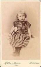 CDV photo Niedliches kleines Mädchen - Hannover 1890er
