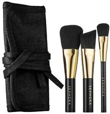 SEPHORA Touch And Gold Travel Mini Makeup Brush Set + Pouch