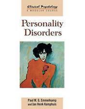 Personality Disorders (Clinical Psychology: A Modular Course), Kamphuis, Jan Hen