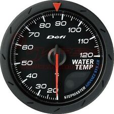Defi gauge ADVANCE CR Water temperature Black face 60mm White/Amber red DF09202