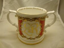 Commemorate Loving Cup 50th Anniversary Reign Queen Elizabeth II Royal Stratford
