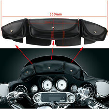X-LARGE MOTORCYCLE WINDSHIELD BAG w/ 3 POCKET POUCH FOR HARLEY-DD47
