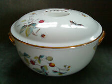 "ROYAL WORCESTER STRAWBERRY FAIR TUREEN / CASSEROLE  9"" diameter  gold trim"