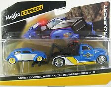 Maisto DESIGN Elite Transport - MAISTO WRECKER / VOLKSWAGEN BEETLE 1:64 Scale