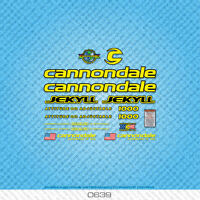 Cannondale Jekyll 1000 Bicycle Decals - Transfers - Stickers - Yellow - Set 0639
