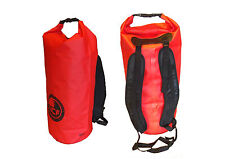 IMPERMEABILE DRY BAG IN ROSSO. imbottito Zaino CINGHIE. 45 L Carry Lots of Kit Asciutti