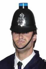 Policemans Helmet Police Helmet with Flashing Blue Siren Light - 23280