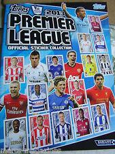 Rare topps football 2013 premier league football autocollant livre album vide inutilisé