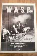 WASP I Wanna Be Me 1984 UK Poster size Press ADVERT 16x12 inches