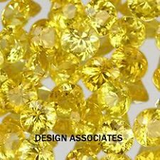 1.5MM 20 pcs Round Diamond Cut Natural Yellow Sapphire