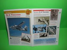 GRUMMAN S-2 TRACKER AIRCRAFT FACTS CARD AIRPLANE BOOK 150
