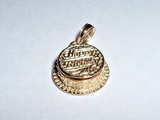 14k YELLOW GOLD HAPPY BIRTHDAY CAKE CHARM it opens up to candle