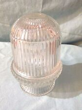 """Indiana Glass Fairy Lamp LANTERN Votive Candle Holder CLEAR RIDGED GLASS 7"""" TALL"""
