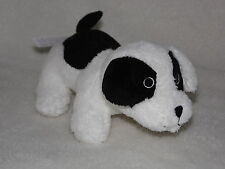 TESCO PUPPY DOG SOFT TOY WHITE AND BLACK COMFORTER