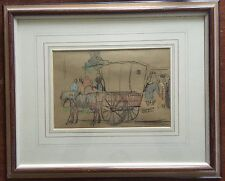 Original drawing by John Cosmo Clark British 1897-1967 RA RWS title Le Tombereau