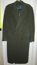 Valentino Uomo 40 S Italy Virgin Wool Olive Green Coat Saks 40S --Superb!