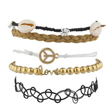 Lux Accessories Hippie BFF Best Friends Forever  Arm Candy Set (5PC)