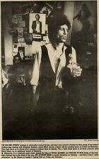 """26/6/82PGN41 KEITH RICHARDS OF THE ROLLING STONES BLACK & WHITE PICTURE 10X7"""""""