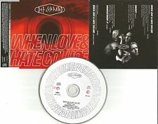 DEF LEPPARD When Love & hate Collide 2 REMIXES & DEMO JAPAN CD single USA Seller