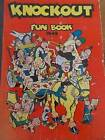 Vintage 1949 Illustrated Boys Girls Childrens KNOCKOUT FUN BOOK ANNUAL 1940s
