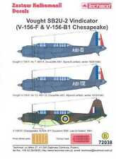 Techmod Decals 1/72 VOUGHT SB2U-2 VINDICATOR British & French Versions