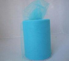 """5Y*6""""Lake Blue Tulle Fabric Tutu Trim Sewing Wedding Craft Decoration L415"""
