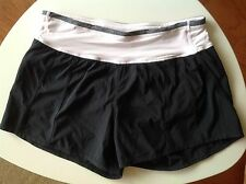Lululemon Shorts Size 4 Black Light Pink Waist Band Running