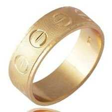 Vintage Jewelry Womens Men's Yellow Gold Filled Band Ring Size 9 Wedding